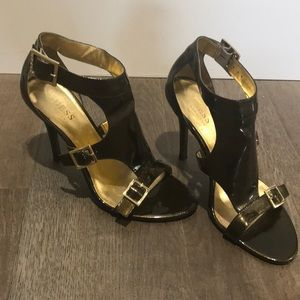 Guess by Marciano gold Patton leather pumps